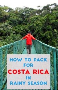 packing for costa rica rainy season pin 1