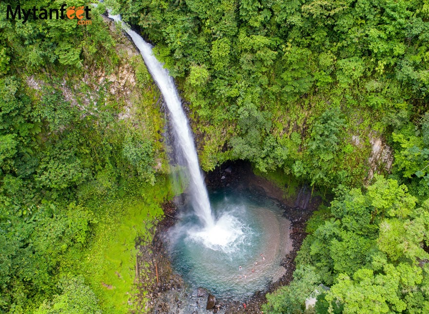 La Fortuna waterfall aerial