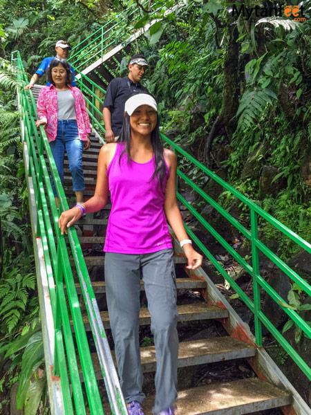 La Fortuna waterfall steps