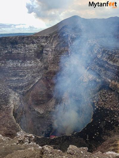 Nicaragua tour from Costa Rica - Masaya volcano.