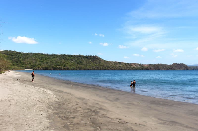 playa iguanita in guanacaste beach