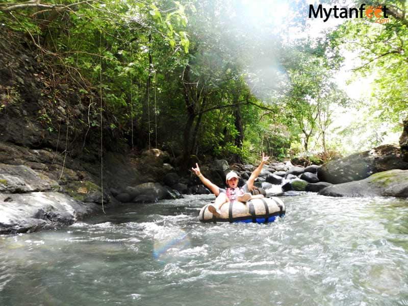 costa rica in rainy season - tubing