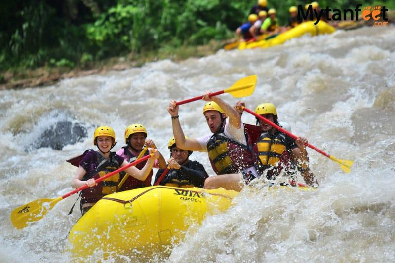 costa rica in rainy season - white water rafting rio pacuare