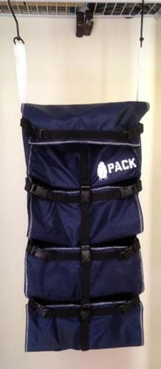 the PACK backpack organizer