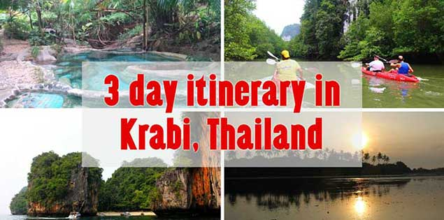 3 days in krabi, thailand itinerary - see what we did in the Krabi province for this 3 day itinerary