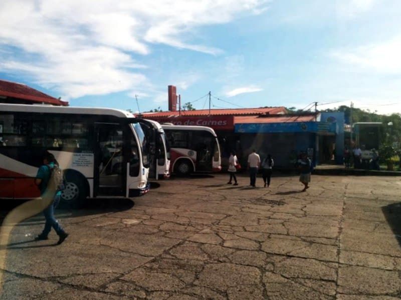 bus from Playa Jaco to Manuel Antonio National Park - Quepos bus station