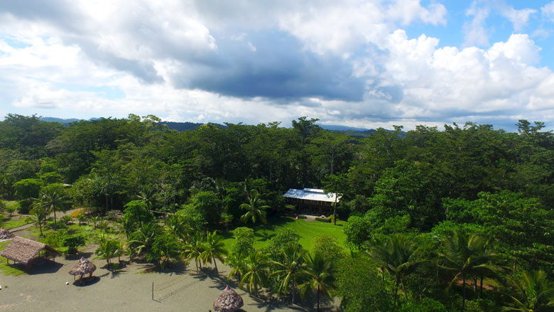 Iguana Lodge in Osa Peninsula - aerial view