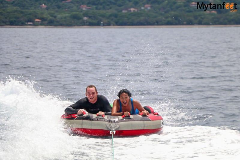 boating in Playas del Coco - donut