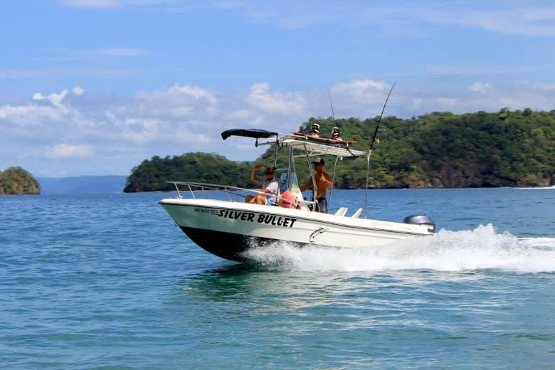 boating in playas del coco - silver bullet