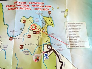 The guide to hiking Manuel Antonio National Park - sendero congo