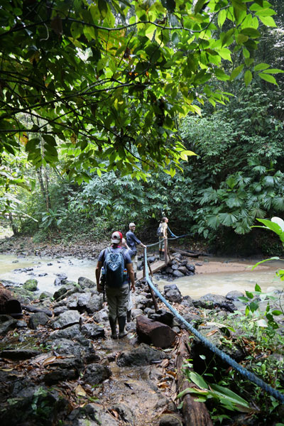 San Pedrillo and Sirena Station in Corcovado National Park - waterfall San Pedrillo trail