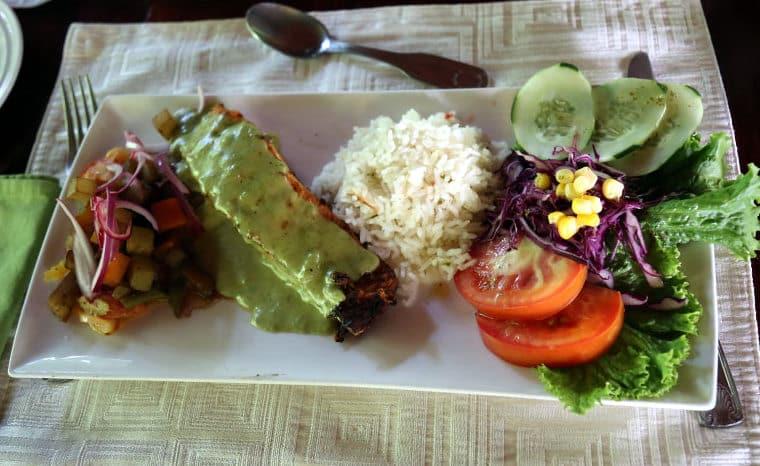 Lunch - salmon, rice and veggies