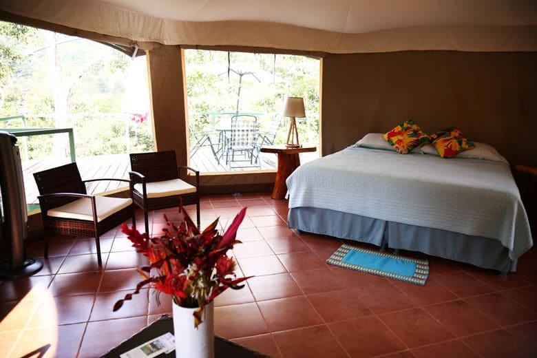Inside the Manoas luxury tent
