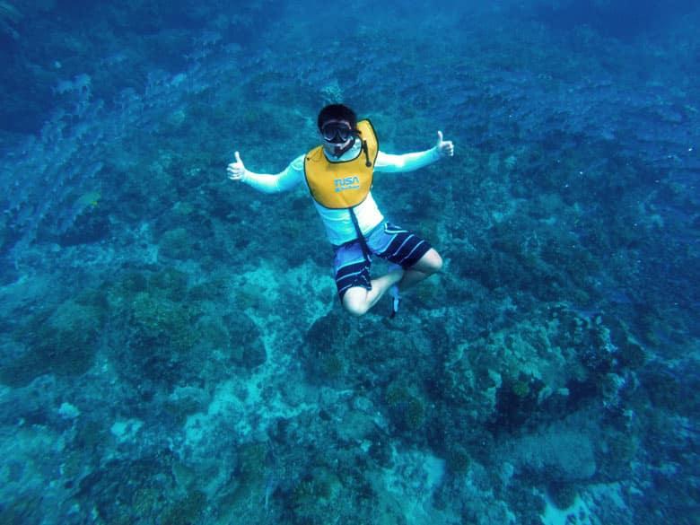 snorkeling at cano island - jacks