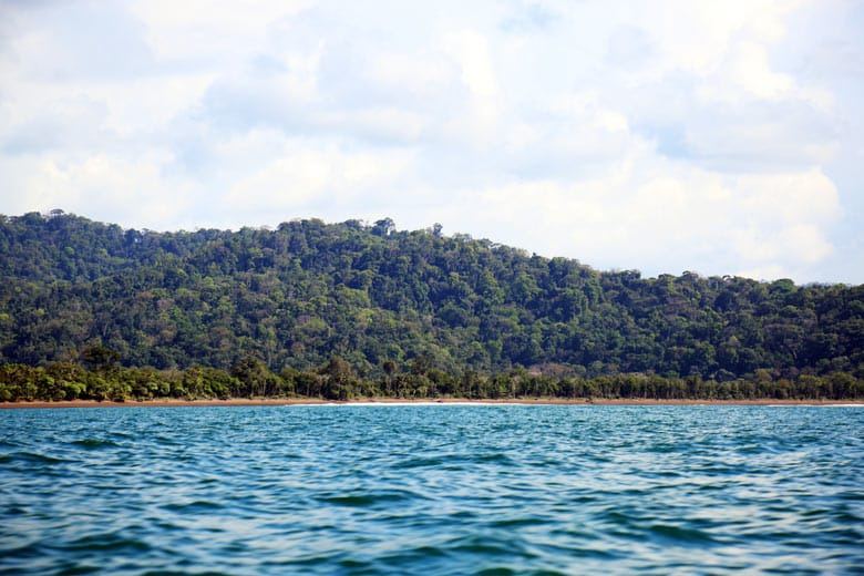 taking the boat from Sierpe to Drake Bay - coast