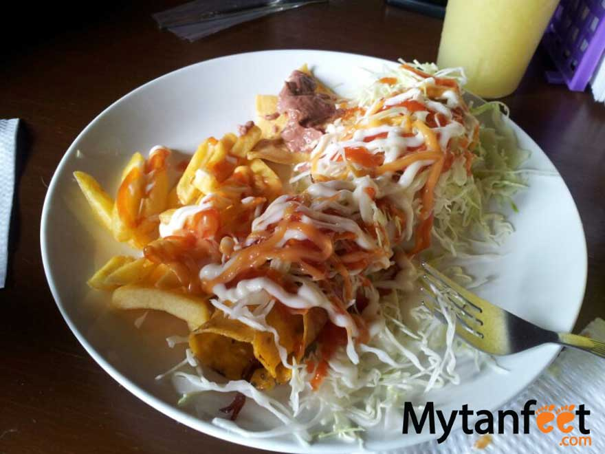 Costa Rica food - taco