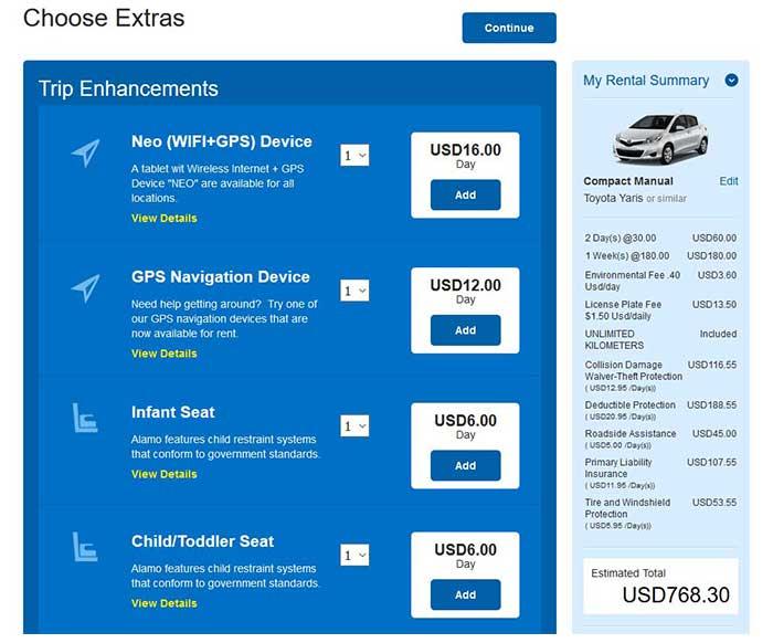 Alamo rent a car total - Costa Rica car rental insurance