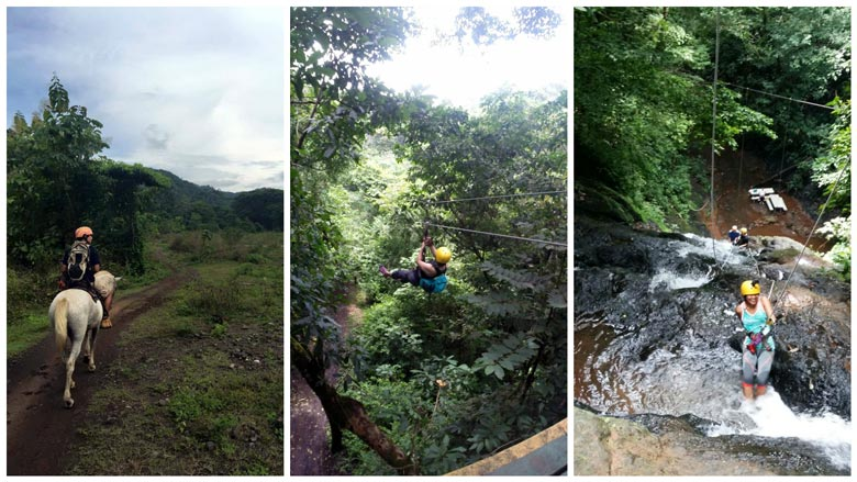 things to do in Playa Jaco - adventure parks with ziplining, canyoning, horseback riding and more