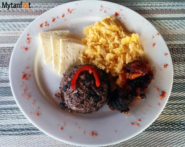 Costa Rican breakfast - gallo pinto
