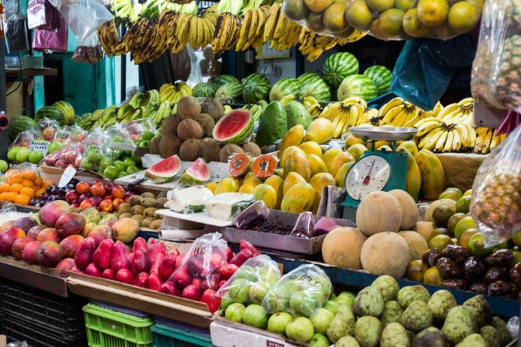 Heredia cultura tour - Heredia Market fruit