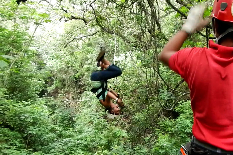Why You Should Go Ziplining in Costa Rica - Upside down