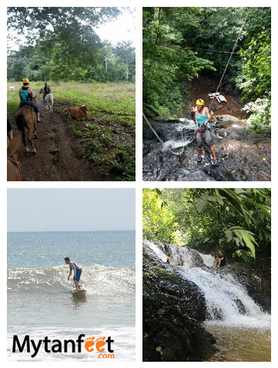 1 week Costa Rica itinerary - things to do in Playa Jaco - surfing, canyoning, waterfalls, horseback riding