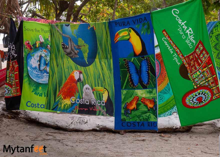 Costa Rican souvenirs - towels