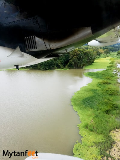 Flying San Jose to Quepos with Nature Air - views of Drake Bay Airport