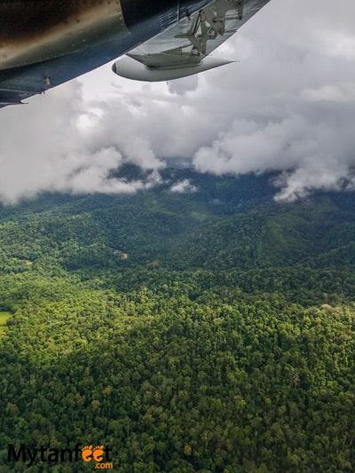 Flying San Jose to Quepos with Nature Air - views of Osa Peninsula