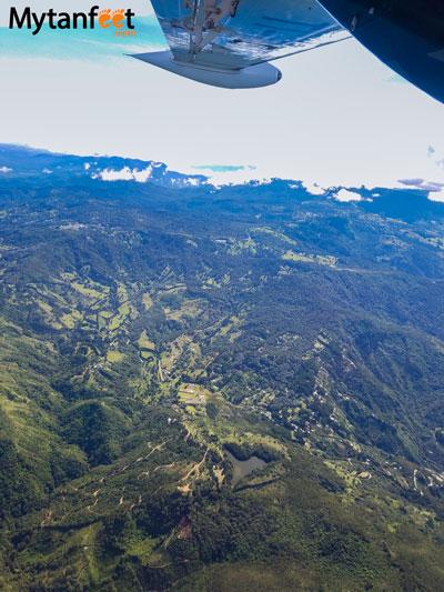 Flying San Jose to Quepos - views of San Jose
