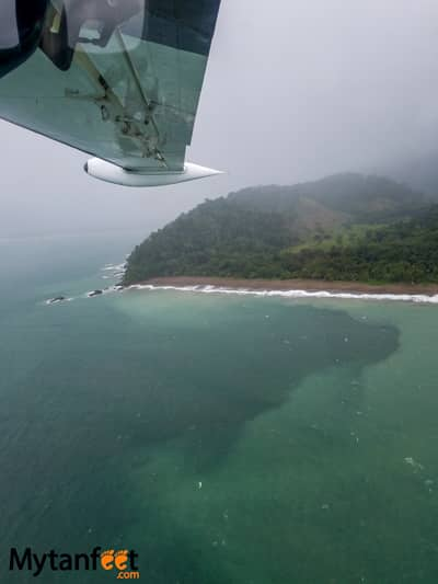 Flying San Jose to Quepos with Nature Air - views of Uvita