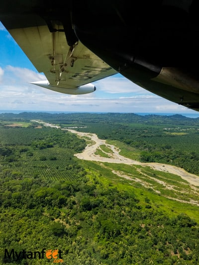 Flying San Jose to Quepos with Nature Air - views of manuel antonio national park