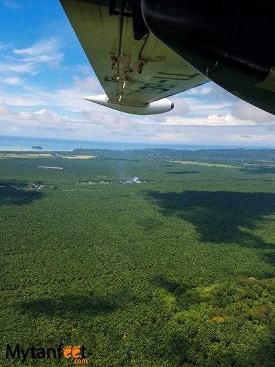 Flying San Jose to Quepos with Nature Air - views of manuel antonio