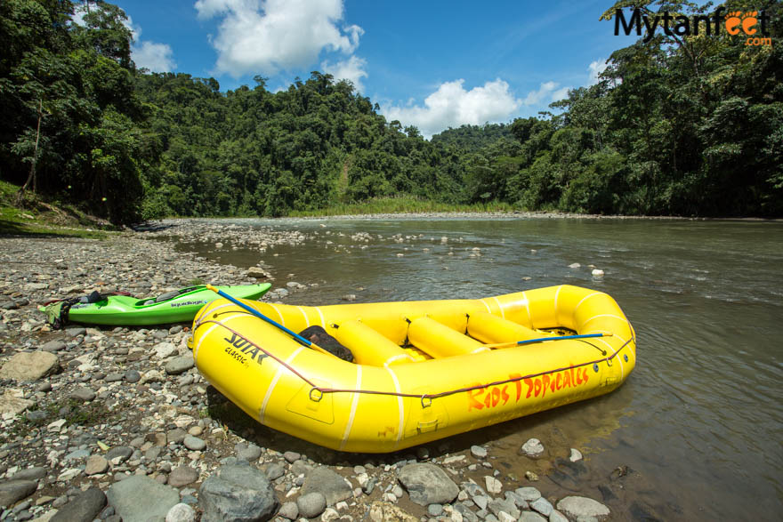2 day white water rafting trip in Costa Rica: start of day 1