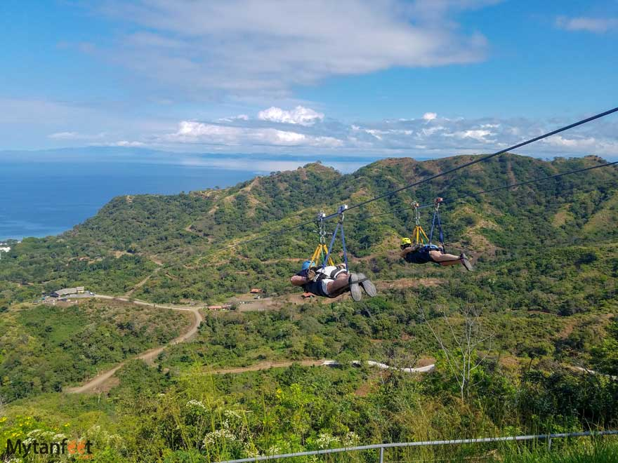 Things to do in Guanacaste - ziplining at Diamante Park