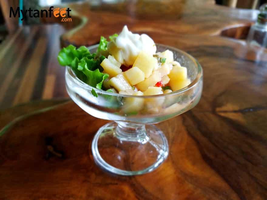 Costa Rican dishes - ceviche de banano verde
