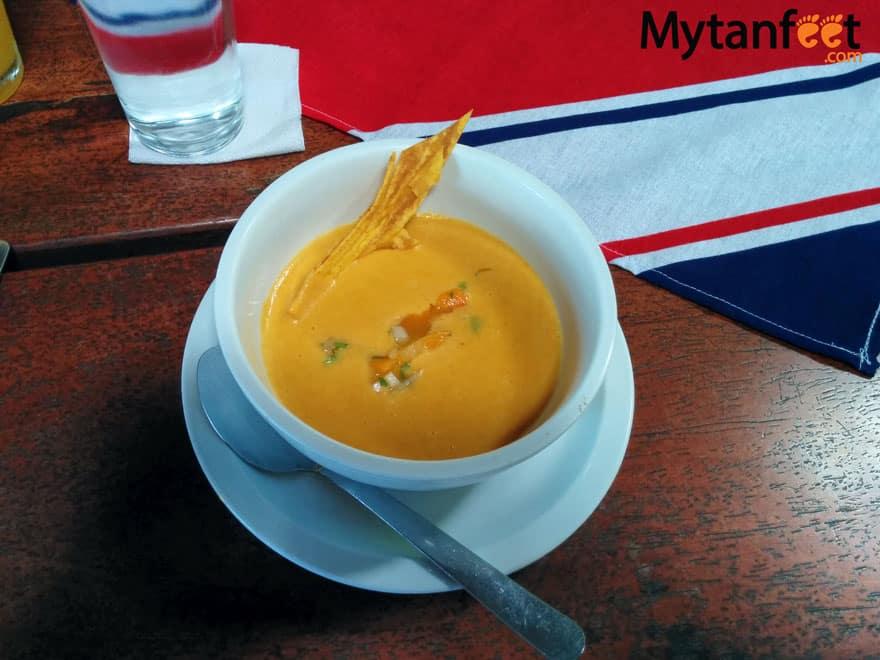What to eat in Costa Rica - Crema de Pejibaye