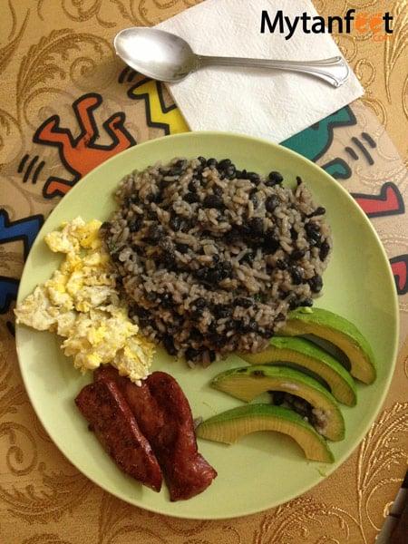 Costa Rica food - gallo pinto