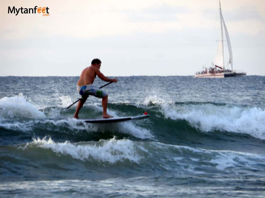 things to do in Tamarindo - stand up paddle board or surf