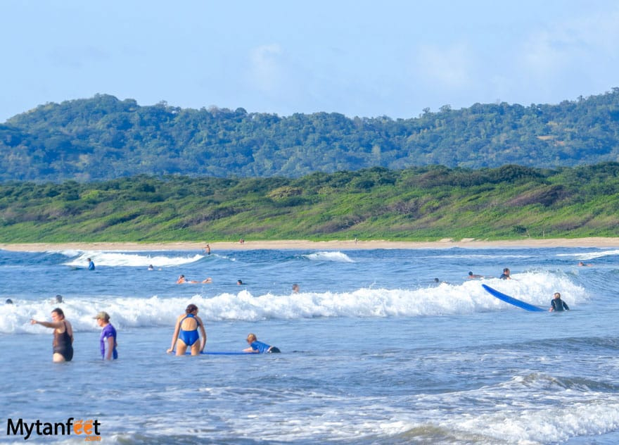 Things to do in Playa Conchal - surf lessons Tamarindo