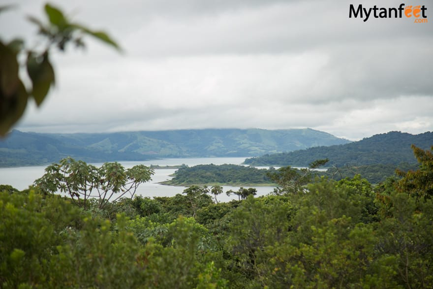 arenal volcano national park - view of arenal lake