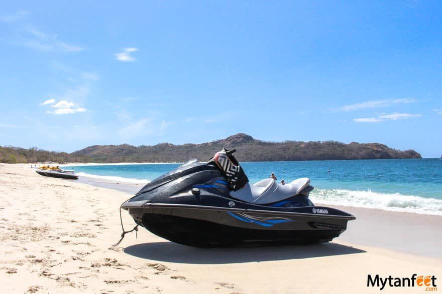 things to do in playa conchal - jet ski