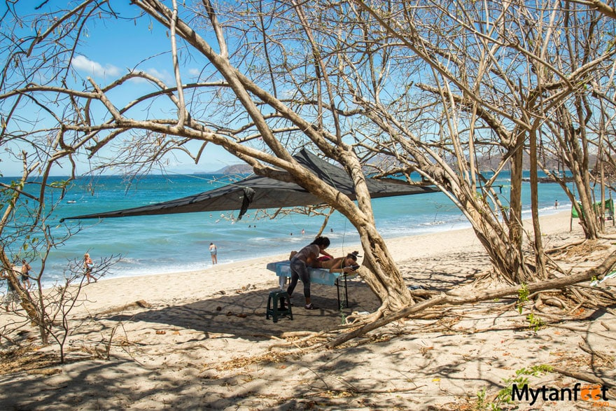 things to do in playa conchal - massage on the beach