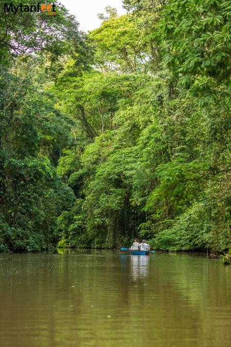 Kayaking through Tortuguero National Park