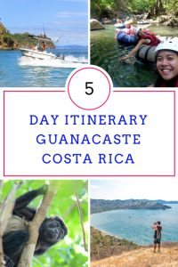 5 day itinerary in guanacaste
