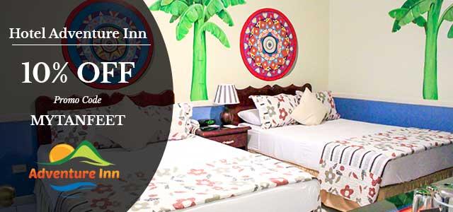 Costa Rica discount: Hotel Adventure Inn Special 10% discount Mytanfeet