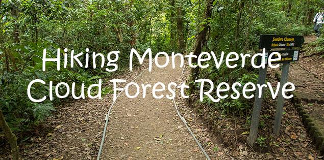hiking monteverde cloud forest reserve