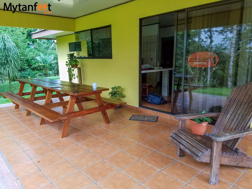 Airbnb in Arenal - backyard