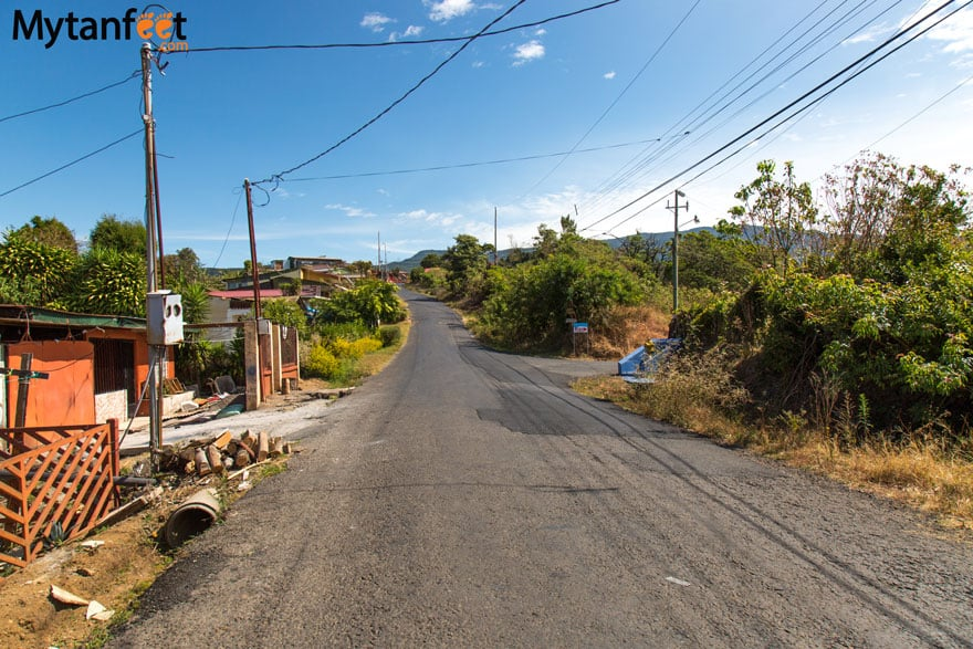 Road conditions in Costa Rica - Grecia