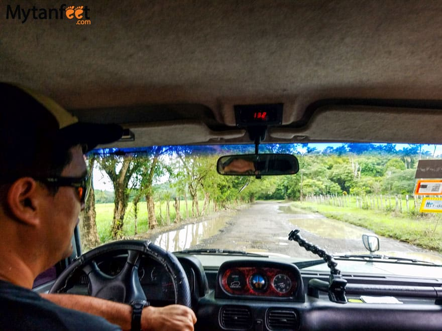 Road conditions in Costa Rica - Osa Peninsula